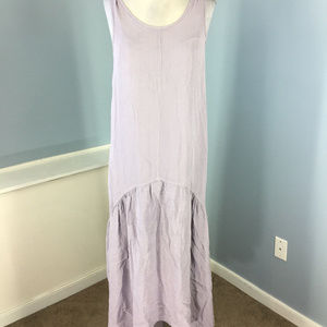 Anthropologie Left of Center S M Lilac Purple maxi